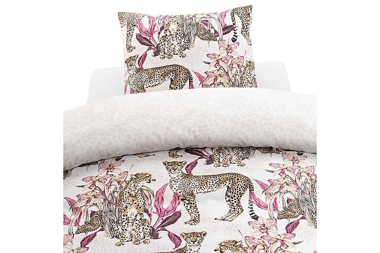 Bäddset Cheetah 2-dels 150x210 cm Rosa - Borganäs - Inredning - Textilier - Sängkläder