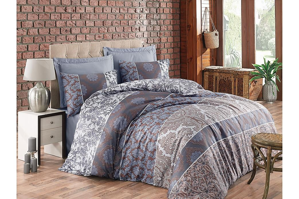 Bäddset Cotton Box Dubbelt 6-dels Satin - Brun/Beige/Grå - Inredning - Textilier - Sängkläder