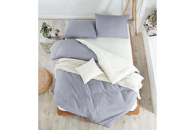 Bäddset EnLora Home Dubbelt 4-dels - Mörkgrå Creme - Inredning - Textilier - Sängkläder