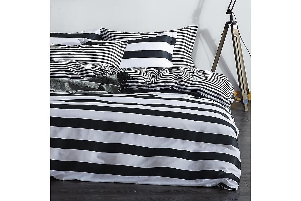 Bäddset EnLora Home Dubbelt 4-dels - Svart Vit - Inredning - Textilier - Sängkläder