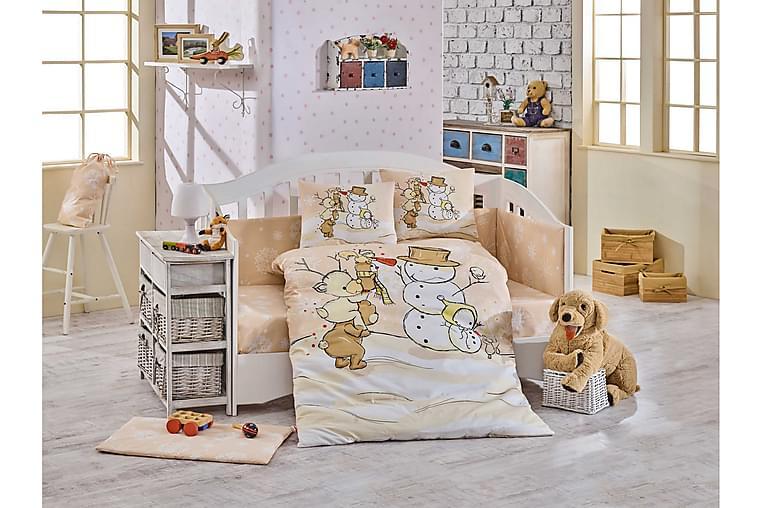 Bäddset Hobby Baby 4-dels Poplin - Beige|Vit|Creme|Brun - Inredning - Textilier - Sängkläder