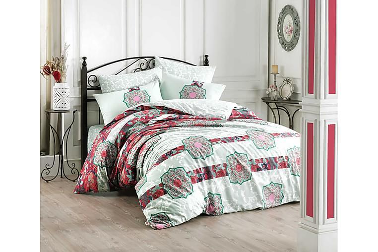 Bäddset Hobby Dubbelt 4-dels Ranforce - Mint Multi - Inredning - Textilier - Sängkläder