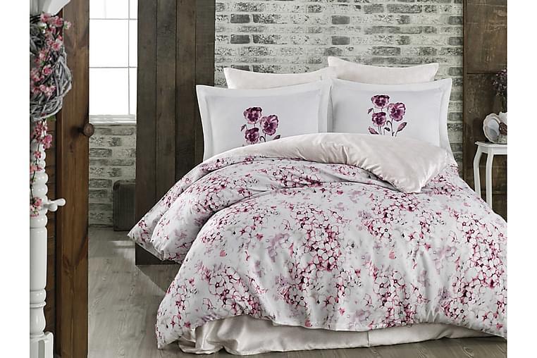 Bäddset Hobby Dubbelt 6-dels Exklusiv Satin - Rosa Vit Beige Lila - Inredning - Textilier - Sängkläder
