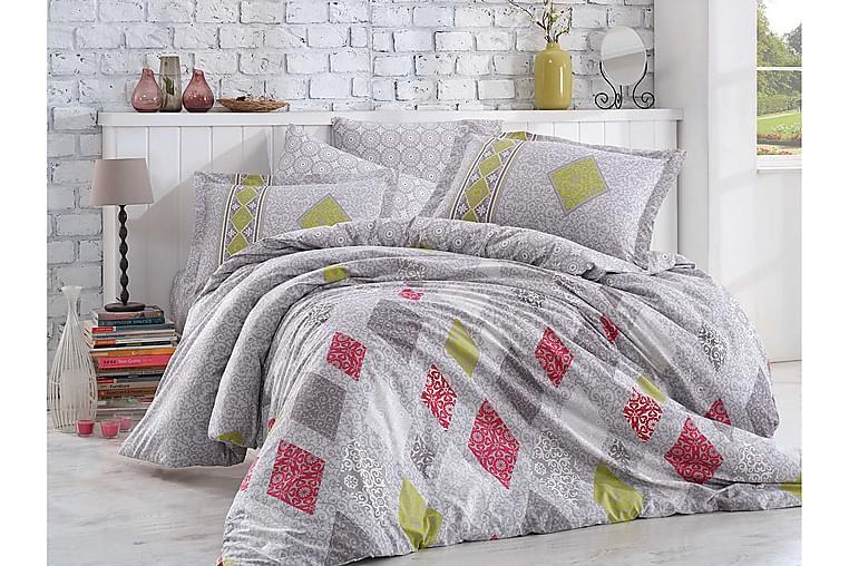 Bäddset Hobby Enkelt 3-dels Poplin - Grå|Röd|Grön - Inredning - Textilier - Sängkläder