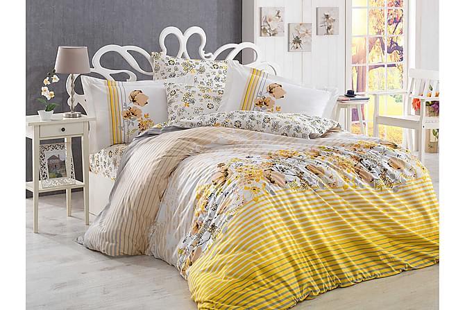 Bäddset Hobby Enkelt 3-dels Poplin - Gul|Vit|Grå|Beige - Inredning - Textilier - Sängkläder