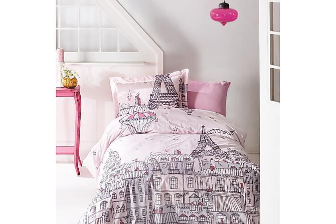 Bäddset Marie Claire Barn 4-dels Ranforce - Rosa|Grå - Inredning - Textilier - Sängkläder