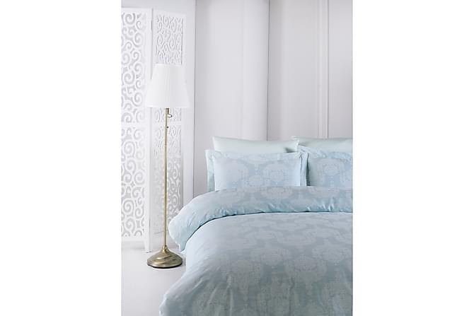 Bäddset Primacasa by Türkiz Enkelt 4-dels Satin - Mint/Vit - Inredning - Textilier - Sängkläder