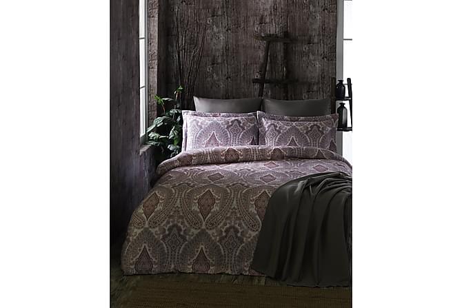 Bäddset Primacasa by Türkiz Enkelt 4-dels Satin - Röd/Vit/Rosa/Grå - Inredning - Textilier - Sängkläder