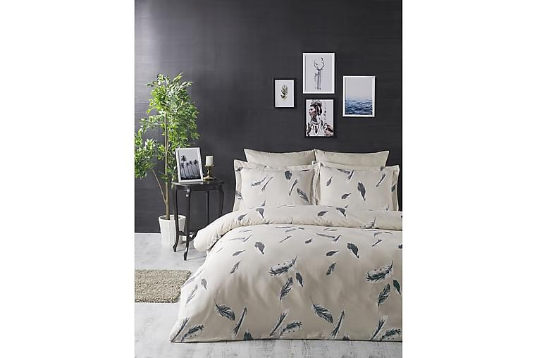 Bäddset Türkiz Dubbelt 4-dels Ranforce - Creme/Grå - Inredning - Textilier - Sängkläder