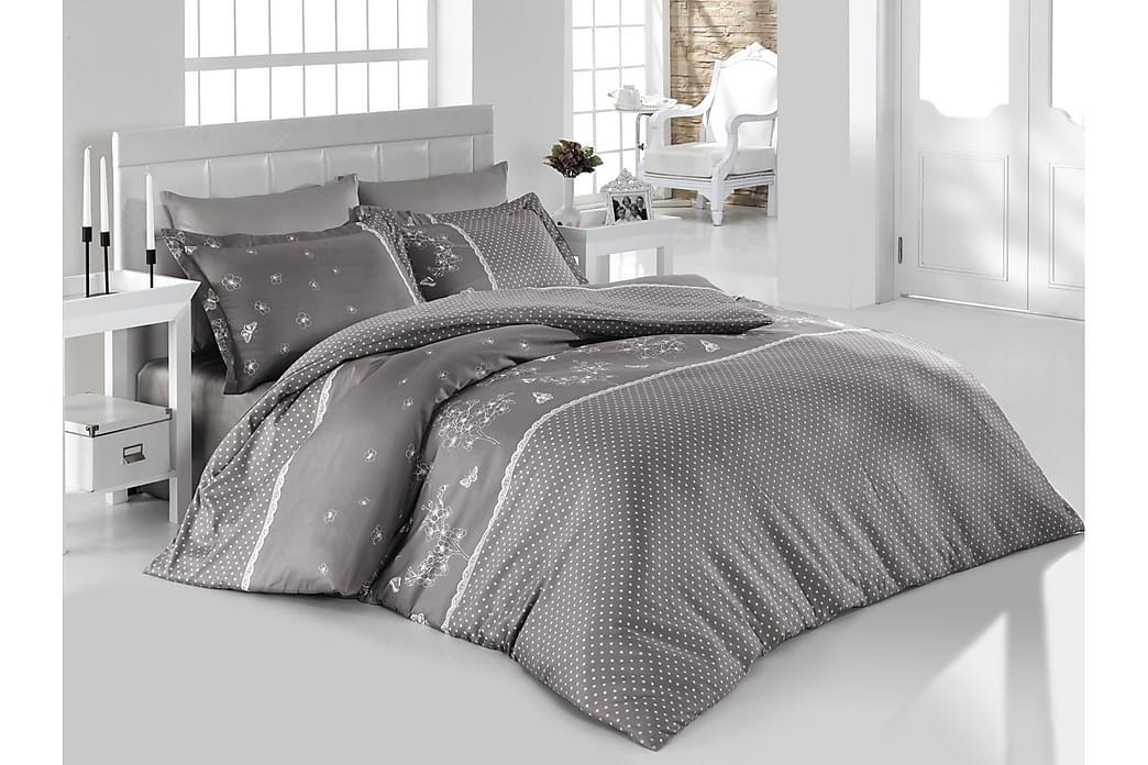 Bäddset Türkiz Enkelt 3-dels Ranforce - Grå Vit - Inredning - Textilier - Sängkläder