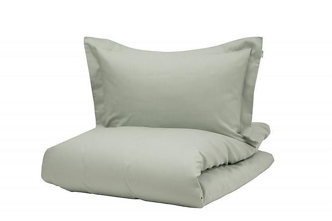 Bäddset Turistripe 220x230 cm Satin Ljusgrön - Turiform - Inredning - Textilier - Sängkläder