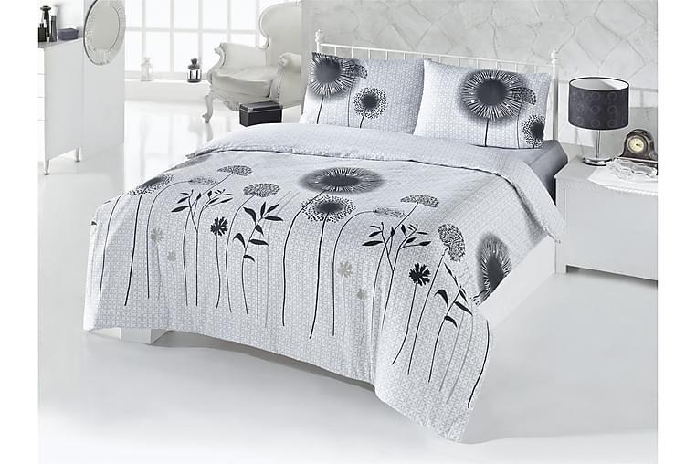 Bäddset Victoria Dubbelt 4-dels - Vit Grå Svart - Inredning - Textilier - Sängkläder