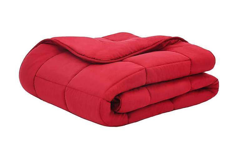 Bäddset vinter 3 delar tyg vinröd 240x220/80x80 cm - Röd - Inredning - Textilier - Sängkläder