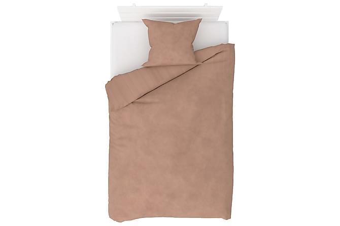 Bäddset 2 delar fleece beige 140x220/60x70 cm - Beige - Inredning - Textilier - Sängkläder