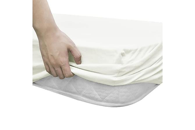 Dra-på-lakan 2 st bomull 95x200 cm jersey naturvit - Naturvit - Inredning - Textilier - Sängkläder