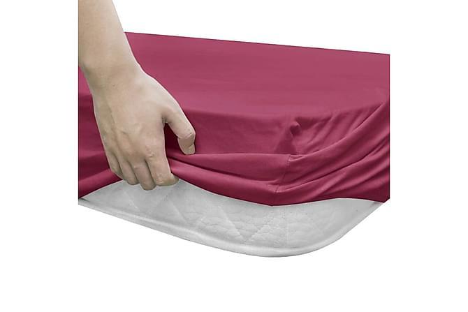 Dra-på-lakan för vattensäng 2 st 1,6x2m bomullsjersey vinröd - Röd - Inredning - Textilier - Sängkläder