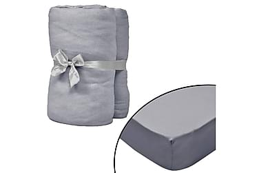 Everard Dra-på-lakan 200x200 cm Bomullsjersey 2-pack