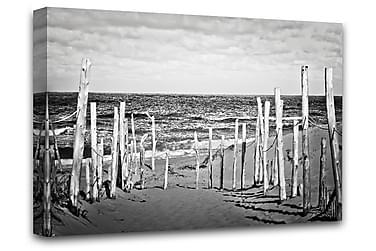 Beach B&W Tavla Canvas 75x100cm