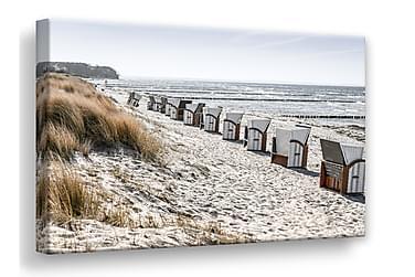 Beach Huts Tavla Canvas 75x100cm