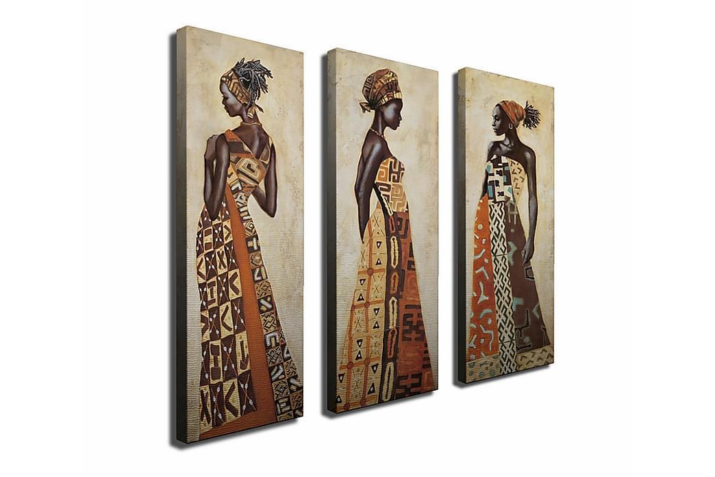 Canvasmålning Dekorativ 3 Delar - Flerfärgad - Inredning - Väggdekor - Canvastavlor
