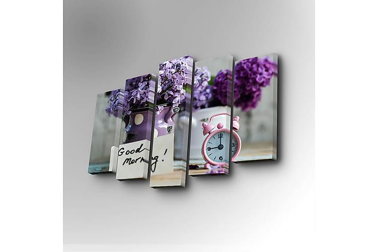 Canvasmålning Dekorativ 5 Delar - Flerfärgad - Inredning - Väggdekor - Canvastavlor