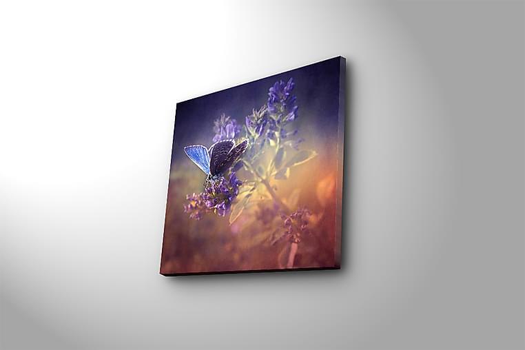Canvastavla Floral Flerfärgad - 45x45 cm - Inredning - Väggdekor - Canvastavlor