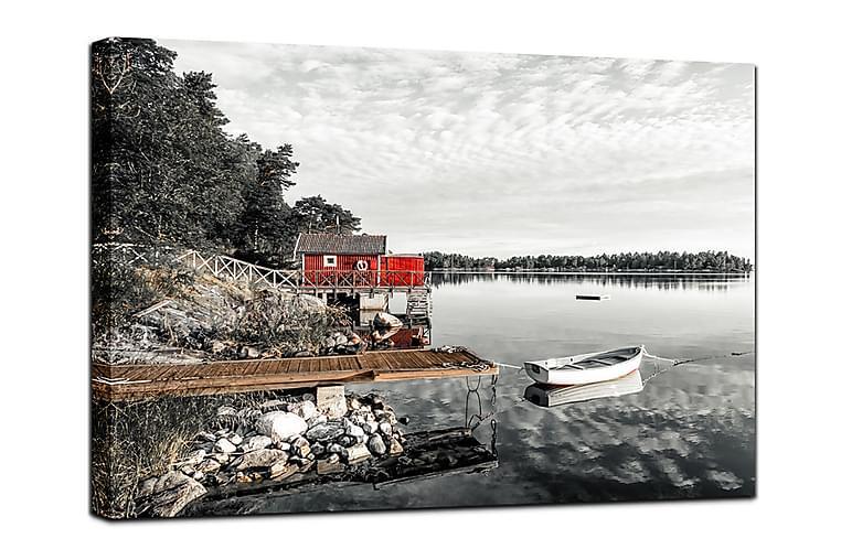 Canvastavla The red Hut - 75x100 - Inredning - Väggdekor - Canvastavlor