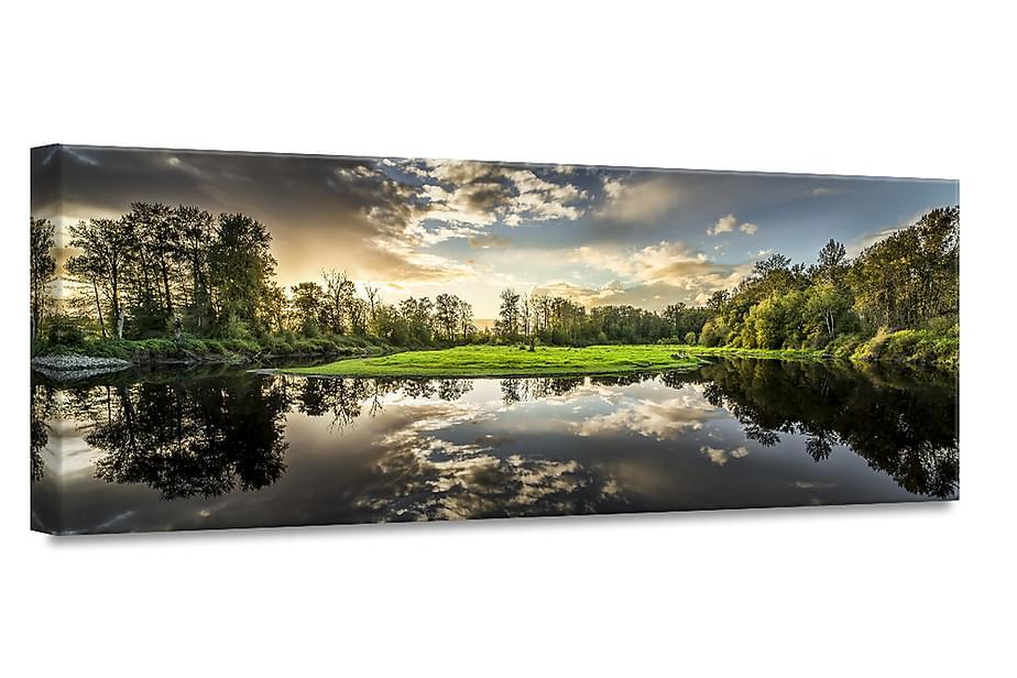Green Sunset Tavla Canvas