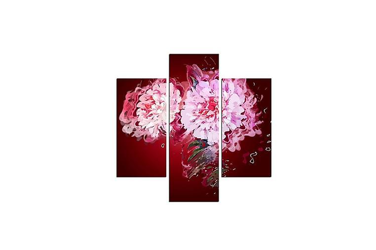 MDF-målning Dekorativ 3 Delar - Flerfärgad - Inredning - Väggdekor - Canvastavlor