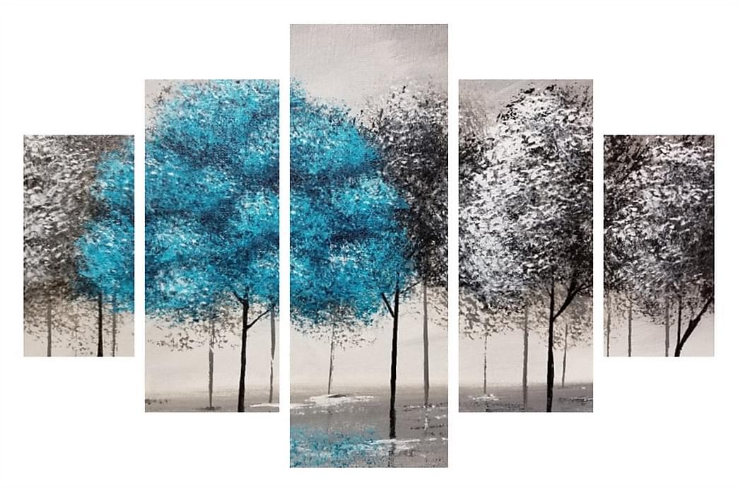 MDF-målning Dekorativ 5 Delar - Flerfärgad - Inredning - Väggdekor - Canvastavlor