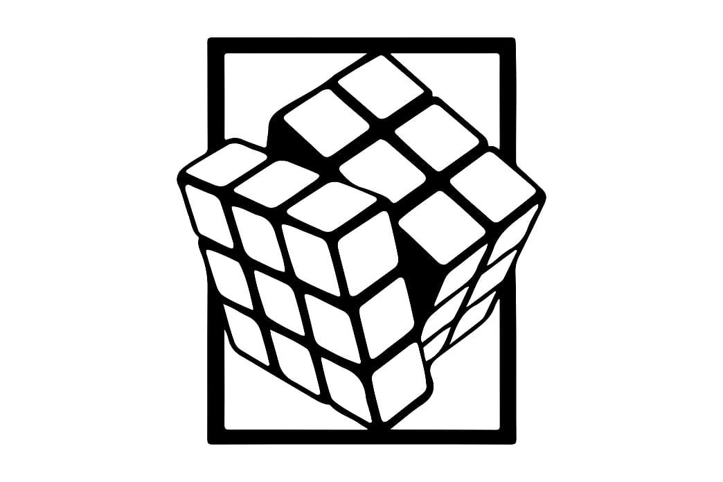 Rubik Cube Väggdekor - Homemania - Inredning - Väggdekor - Canvastavlor