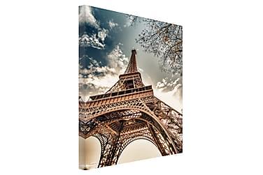 Tavla Canvas Silver Eiffel