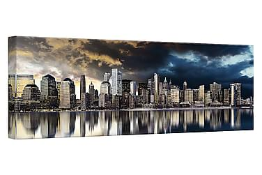 Tavla Canvas Silver Gold City