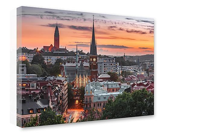 Tavla Oscar Fredriks Kyrka Göteborg - 75x100 - Inredning - Väggdekor - Canvastavlor