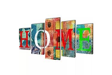 Uppsättning väggbonader på duk: färgfylld hemdesign 200 x 10