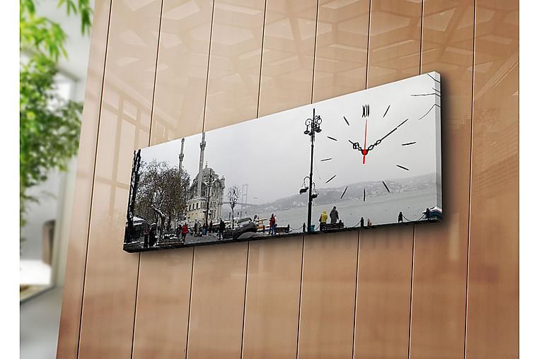 Canvasmålning Dekorativ med Klocka - Flerfärgad - Inredning - Väggdekor - Klockor