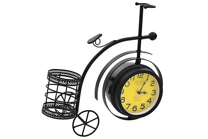 Klocka dubbelsidig trehjuling vintage - Svart - Inredning - Väggdekor - Klockor