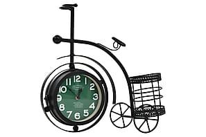 Klocka dubbelsidig trehjuling vintage