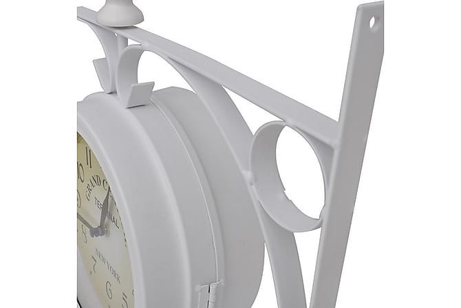 Väggklocka med dubbelsidig klassisk design - Vit - Inredning - Väggdekor - Klockor