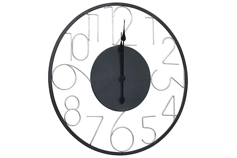 Väggklocka svart 60 cm metall - Svart - Inredning - Väggdekor - Klockor