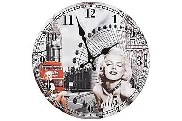 Väggklocka vintage Marilyn Monroe 30 cm