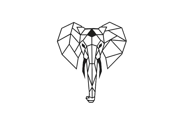 Väggdekoration Elefant - Homemania - Inredning - Väggdekor - Plåtskyltar