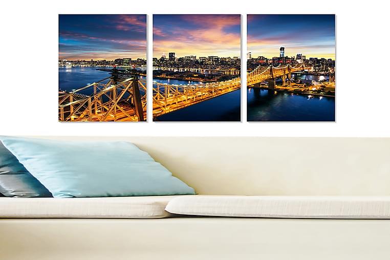 Canvastavla City 3-pack Flerfärgad - 20x50 cm - Inredning - Väggdekor - Posters