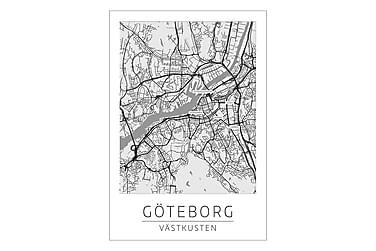 Poster Göteborg Stadskarta 50x70 cm