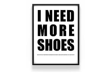 Poster Shoes 50x70cm - 230g matt fotopapper