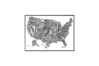 Poster USA karta