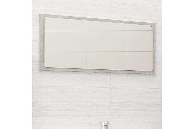 Badrumsspegel betonggrå 80x1,5x37 cm spånskiva - Grå - Inredning - Väggdekor - Speglar