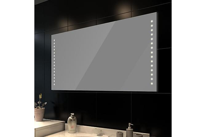 Badrumsspegel med LED-lampor 100 x 60 cm (L x H) - Grå|Vit - Inredning - Väggdekor - Speglar