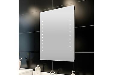 Badrumsspegel med LED-lampor 50 x 60 cm (L x H)
