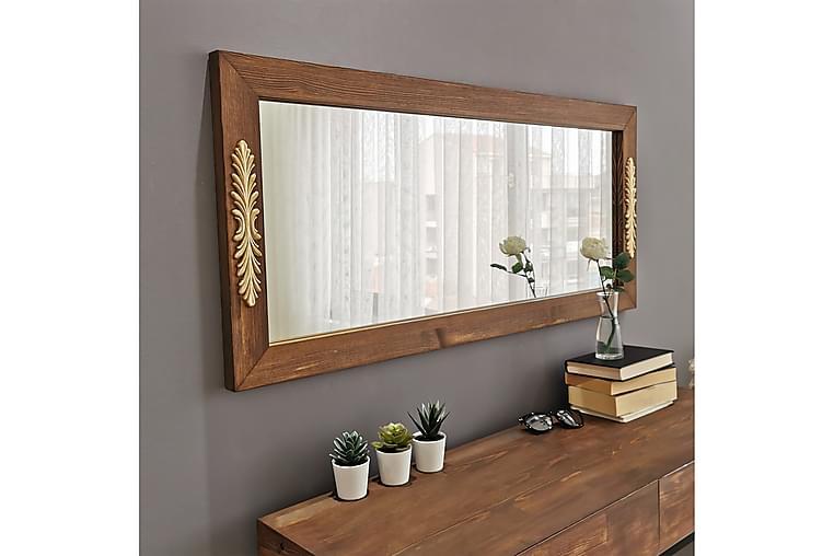 Dekorationsspegel Happys 110 cm - Valnöt - Inredning - Väggdekor - Speglar